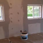 Spartlning af vægge opsætning af filt og
