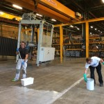 Epoxy behandling af fabriksgulv